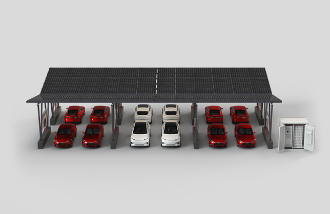 Solar Carport Charging Stations with BESS